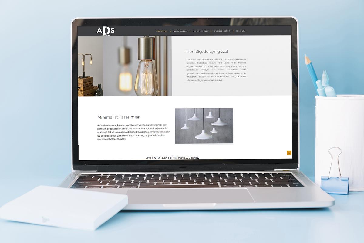 ADS Aydınlatma web site çalışması